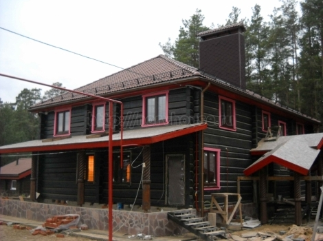 Дом из лафета в п. Козино фото