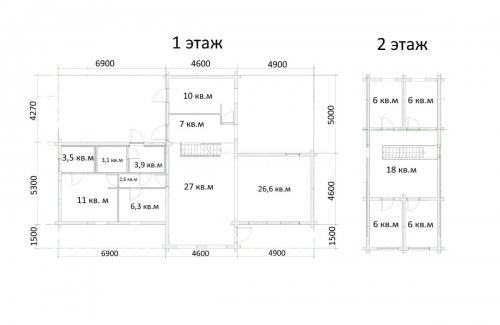 Дом в Норвегии 346 кв.м чертеж 3