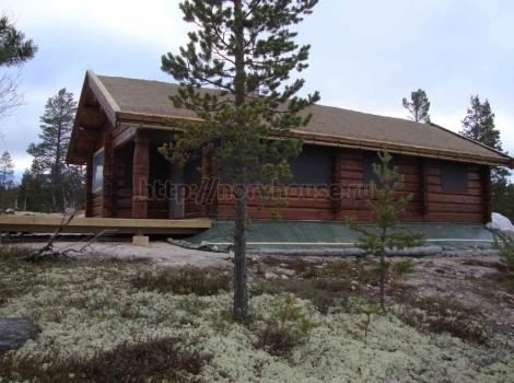 Дом в Норвегии из лафета 400 кв. м чертеж 0
