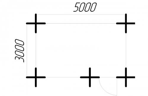 Беседка 3-5 чертеж 0