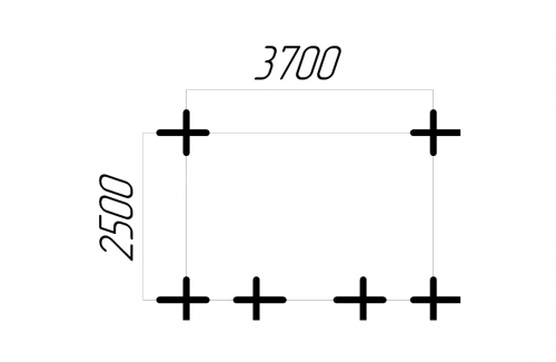 Беседка 37-25 чертеж 1