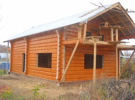 Деревянный дом в п. Катунки фото