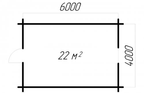 Гостевой домик 6-4 чертеж 3