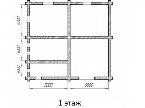 Двухэтажный деревянный дом 260 кв.м чертеж 0