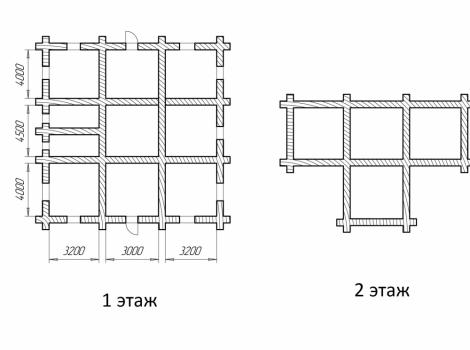 Дом «Сказка» ручная рубка 250 кв.м чертеж 0