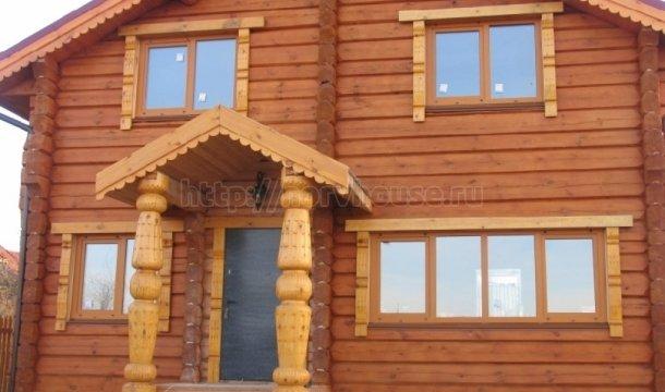 Двухэтажный деревянный дом 260 кв.м фото